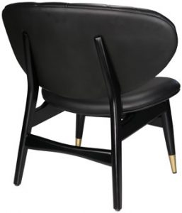 Black leather Studio Chair, back angle view
