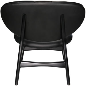 Black leather studio chair, back view