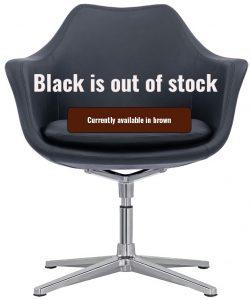 Leather lobby chair