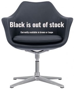 Black Leather Lobby Chair